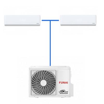 Мульти сплит система Funai SM35HP.D04/S (2 шт.) / RAMI-3OR70HP.D05/U