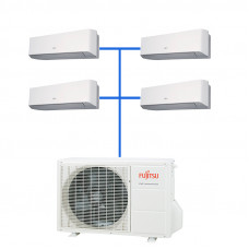 Мульти сплит система Fujitsu ASYG07LMCE-R (4 шт.) / AOYG30LAT4
