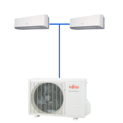 Мульти сплит система Fujitsu ASYG07LMCE-R (2 шт.) / AOYG14LAC2