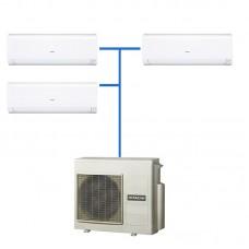Мульти-сплит система HITACHI R410A RAK-25RPC + RAK-18RPC (2шт) / RAM-53NP3B