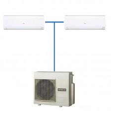 Мульти-сплит система HITACHI R410A RAK-25RPC + RAK-35RPC / RAM-53NP2B