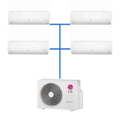 Мульти сплит система LG PM05SP.NSJR0 (4 шт.) / MU4M25.U44R0