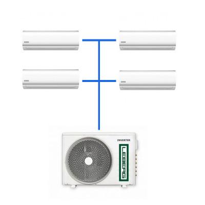 Мульти сплит система Leberg LSI-M09WB (4 шт.) / LUI-4M36BB