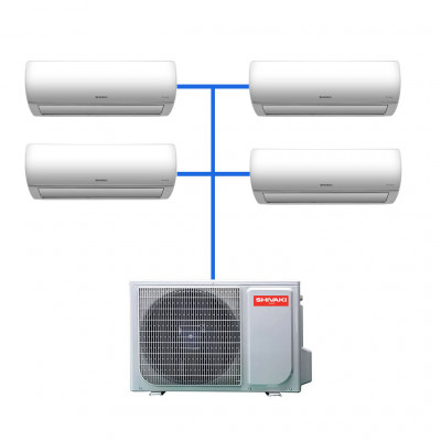 Мульти сплит система Shivaki SRH-PM362DC / SSH-PM072DC (4 шт)