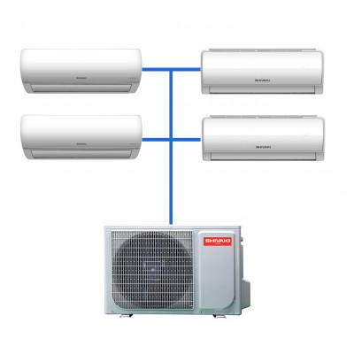 Мульти сплит система Shivaki SRH-PM362DC / SSH-PM072DC (2 шт) / SSH-PM092DC (2 шт)