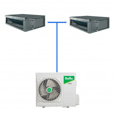 Мульти сплит система Ballu B2OI-FM/out-18HN1/EU / BDI-FM/in-09HN1/EU (2 шт)