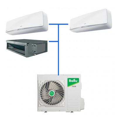 Мульти сплит система Balu B3OI-FM/out-24HN1/EU / BSEI-FM/in-07HN1/EU (2 шт) / BDI-FM/in-09HN1/EU