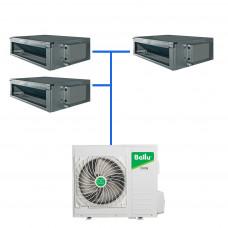 Мульти сплит система  Ballu B5OI-FM/out-42HN1/EU / BDI-FM/in-18HN1/EU / BDI-FM/in-12HN1/EU (2 шт)