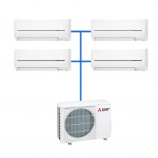 Мульти сплит система Mitsubishi Electric MXZ-4E72VA+MSZ-SF25VE