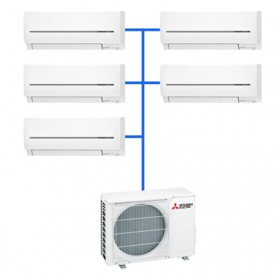 Мульти сплит система  Mitsubishi Electric MXZ-5E102VA+MSZ-SF25VE